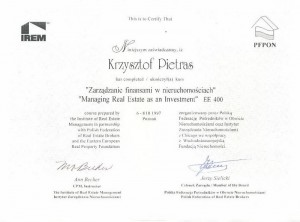 PFPON IREM EE400 - Krzysztof Pietras - 1997