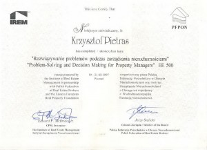 PFPON IREM EE500 - Krzysztof Pietras - 1997