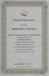 PFRN - Dyplom 2001 - Krzysztof Pietras