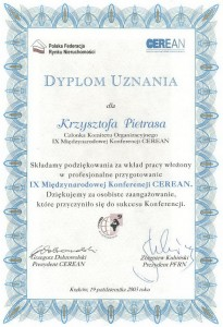 PFRN CEREAN - Dyplom - Krzysztof Pietras - 2003