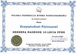 PFRN - Nagroda - Krzysztof Pietras - 2005