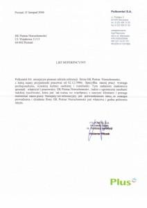 Polkomtel - List referencyjny - 2006