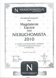 2010 - Nieruchomista - Magda Łączka - sprzedaż mieszkań Poznań