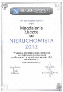 2012 - Nieruchomista - Magda Łączka