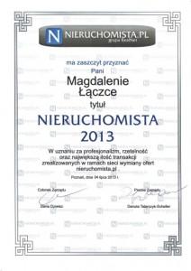 Nieruchomista 2013 - Magda Łączka