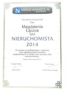 Nieruchomista Roku 2014 - Magda Łączka